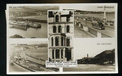 DOUGLAS Isle of Man Greetings from Stanley Hotel Loch Promenade  Multi Views RP