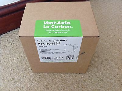 Vent Axia 404535 Lo-Carbon Response DMEV Quiet Bathroom Fan