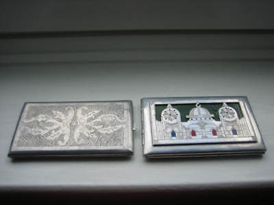 PAIR OF TRENCH ART CIGARETTE CASES FROM 1940s
