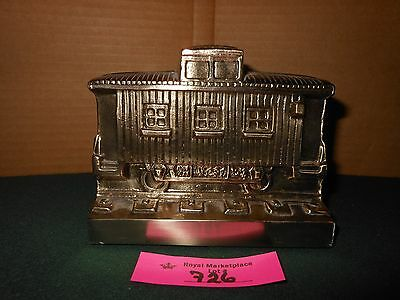 Vintage PM Craftsman Heavy Brass CABOOSE Figural Bookend