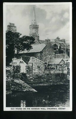 STROMNESS ORKNEY  Old Houses on the Harbour Wall  RP