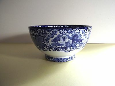 Vintage George Jones ABBEY 1790 Large Blue and White Bowl  (71,225)