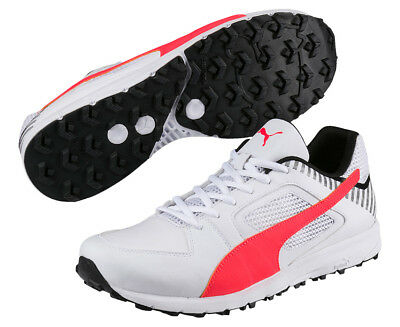 Puma Men's Team Rubber Cricket Shoe - White/Red
