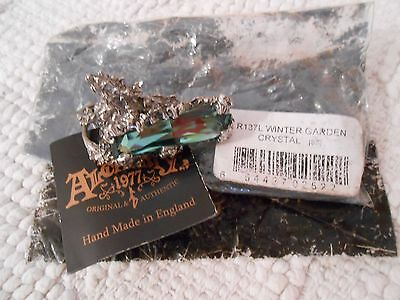Alchemy Gothic Winter Garden ivy pewter ring witch l/m