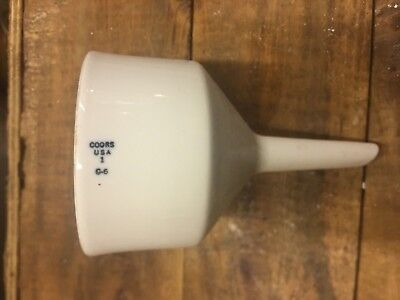 Vintage Coors Filter Funnel Porcelain Ceramic Chemistry Pharmacy Apothecary