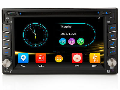 Autoradio Mit Gps Navi Navigation Bluetooth Touchscreen Dvd Usb Mp3 3G/wifi 2Din