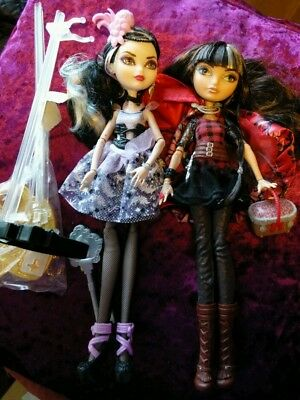 2 Ever After High Dolls Cerise Hood and Duchess Swan good condition rare