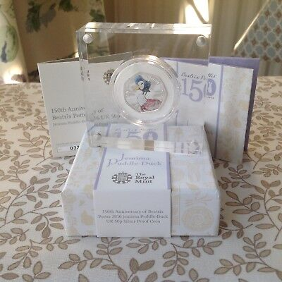 Beatrix Potter Jemima Puddle-Duck Limited Edition Silver Proof 50p Coin