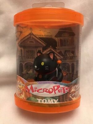 VINTAGE MicroPets Black Cat Halloween LTD.Edition MP Collectible Tomy Rare HTF
