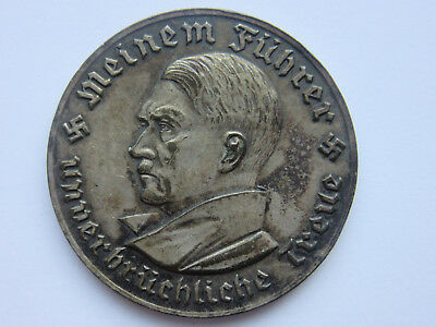 German Medal Nazi 1934 Third Reich Bucholz Memorial Hall Silver Plated
