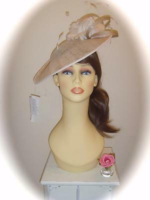 Mother of Bride Ascot Occasion Wedding Condici 7286 Fascinator, Pale Gold/Ivory