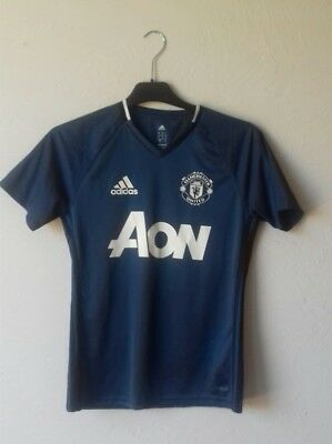 Tee shirt  Maillot  Adidas   Manchester United    Taille S    Bleu