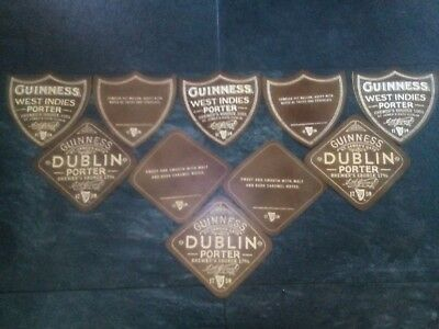 "10 Guinness "" Dublin Porter ""  Beer Mats/ Coasters. Plywood New. Rare"