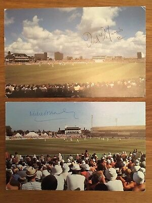 Signed Cricket Postcards - Middlesex Players Brearley & Titmus