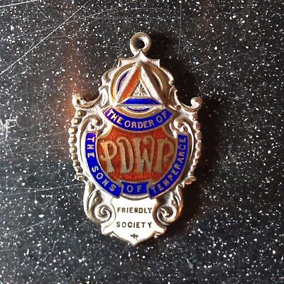 Silver hallmark Order of the Sons of Temperance medal/fob