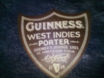 """Guinness """" West Indies Porter """" Beer Mat/coaster  Plywood New. Rare"""