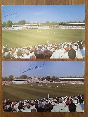 Signed Cricket Postcards - Surrey Players May & Bedser