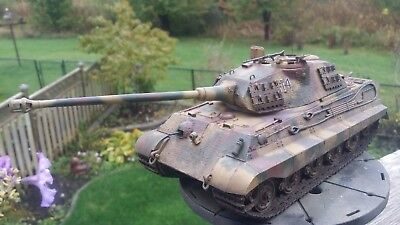 1/35 Sd.Kfz.182 King Tiger (Porsche Turret) w/ Zimmerit PRO-BUILT AND PAINTED