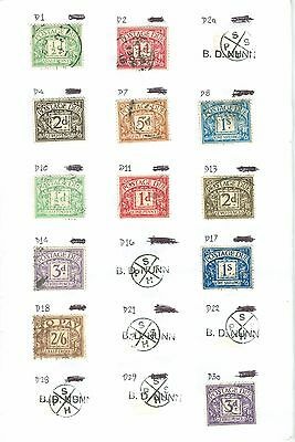 Gb Collection Postage Dues Mnh/mh/used Sg D1 Onwards