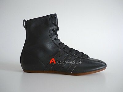 Unworn 70`s Vintage Adidas Black Boxer Boxing Boots Hi Tops Shoes 80`s W Germany
