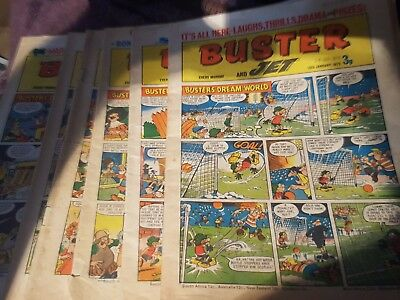 buster and Jet comic 1972 x 6