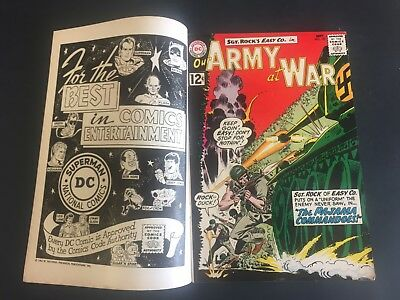 DOUBLE COVER- Our Army at WAR  # 122 (1962) DC Comics- SCARCE COMIC BOOK- NICE !