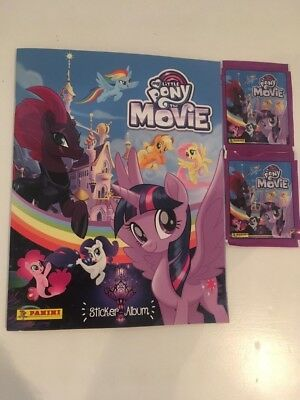 Panini My Little Pony The Movie Collection Album Sticker Pack + 2 pack stickers