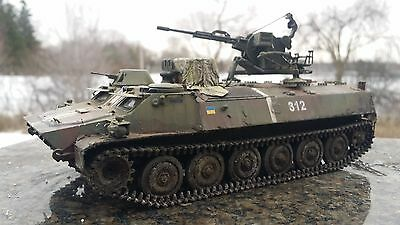 1/35 Ukrainian Mt-Lb Troops Carrier With Zu-23-2 , Pro Build And Painted