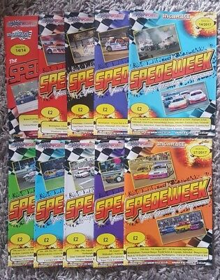 10X Spedeworth Spedeweek programmes 2014, 2016 & 2017 Stock car Banger Racing