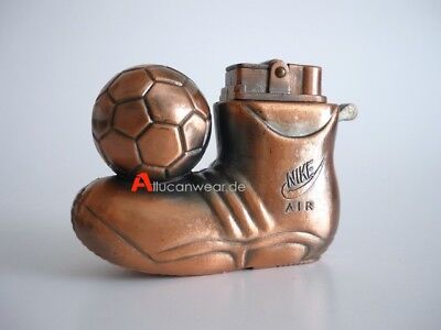 80`s Vintage Nike Air Advertising Metal Lighter 90`s Soccer Cleats Football Boot