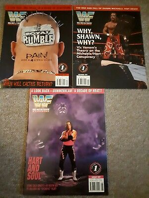 wwe wwf attitude era magazine aug 97 nov 97 feb 98