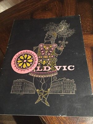 Vintage 1962 OLD VIC Theater PROGRAM Shakespeare plays acting actor