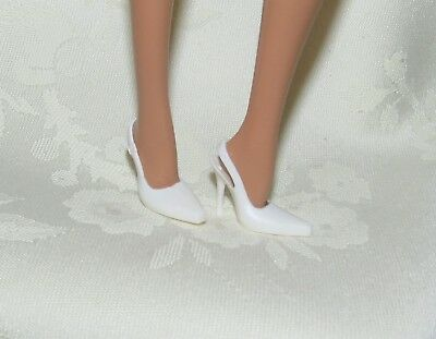 Barbie White Slingback High Heel Accessory Shoes For Doll