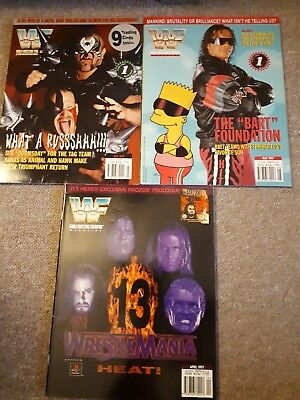 wwe wwf attitude era magazine apr 97 may 97 jul 97