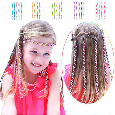 6pcs Kids Girls DIY Hair Styling Braiding Spiral Curlers Rollers Head Dress Band