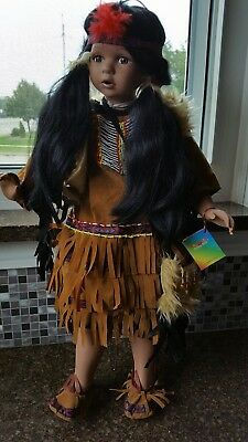 """Genuine Ashley Belle Collectibles """"Native American"""" Doll model B26"""