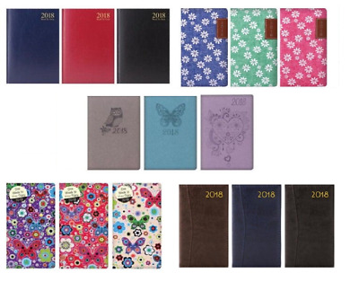 Diary 2018 Slim / A5 Week to View - Many Designs / Colours Christmas / Xmas Gift