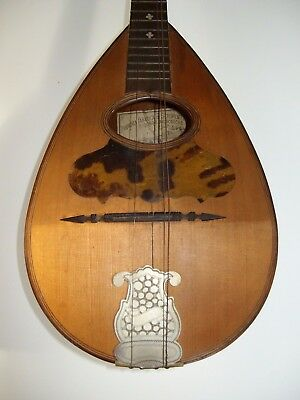 "Rare Italy Mandolin ""Kisslinger"" ,Calace, Embergher Style, Napoli 1900"