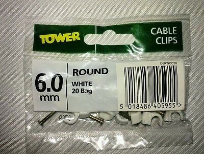370 packs . Job lot cable pins -white 6mm
