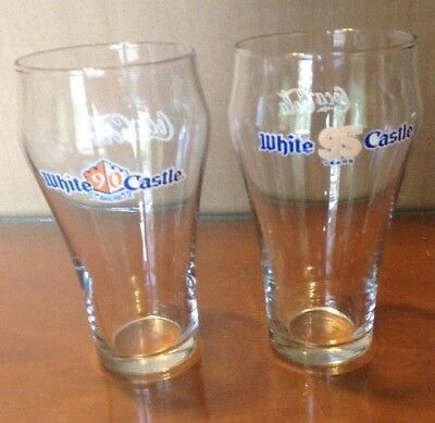 White Castle Coca Cola Glasses Lot Of 2 90 and 95 Year Glasses