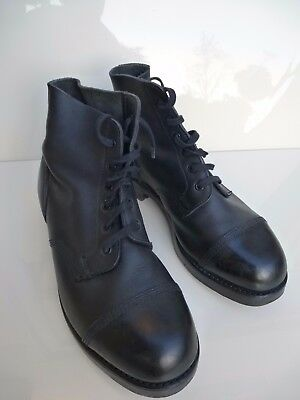 Sz 10 M BRITISH ARMY AMMO BOOTS Military Hobnail Drill Parade,Good Cond, No res