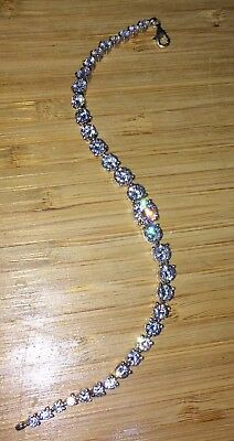 Stunning Sterling Silver And Cubic Zirconia Bracelet