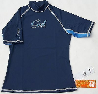 Gul Navy Rash Vest Ladies 12 Wetsuit Surf Sail Watersports 50+ Uv Protection