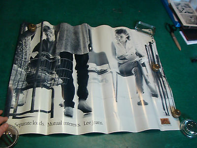 """original vintage Poster: LEE PANTS--girl checking out guy1989-apx 22 x 27 1/2"""""""