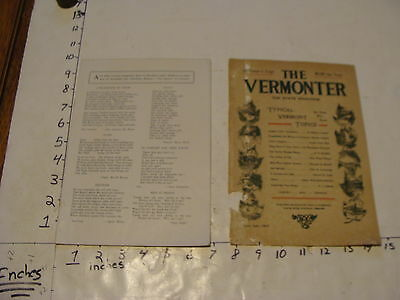 Vintage Travel Paper--THE VERMONTER--JULY 1934