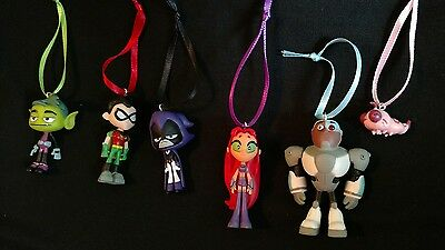 Teen Titans Christmas Ornament Set  of six- Raven Beast Boy Robin Cyborg Star