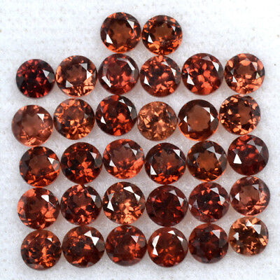 Natural Pyrope Red Garnet Loose Round Cut Lot Mozambique 10.80 Cts 4 mm 32 Pcs