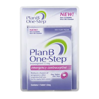 Plan B Emergency Contraceptive One Step Pill Levonorgestral