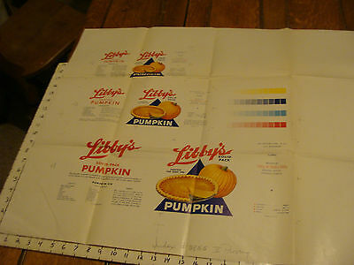 "Vintage Printing Sample Poster: LIBBY'S SOLID PACK PUMPKIN, 30X25""; #5855"