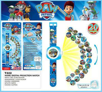 Cute PAW PATROL Figures Dog Doll Projection Wrist Watch Kids Boy Girl Toy Gift